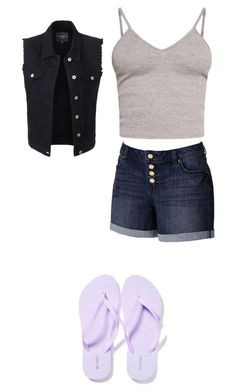 """Cute summer outfit"" by fungiral on Polyvore featuring BasicGrey, Jennifer Lopez, Old Navy and LE3NO"
