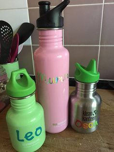 Name within raincloud rainbow raindrops Vinyl Sticker Water Bottle Such As KK