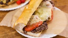 An Italian-style Philly cheesesteak. Directions are for Cheese Whiz but I will use provolone.