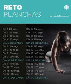 Reto de planchas. Haz este super ejercicio un mes y comprueba los resultados.  #instafit #RetoInstaFit www.instafit.com