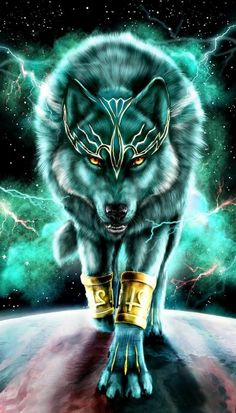 Art Discover Amazing Wolf Wallpaper Here are the best screen murals you can use on your phone. Dark Fantasy Art, Fantasy Artwork, Wolf Artwork, Fantasy Wolf, Wolf Love, Anime Wolf, Best Wallpapers Android, Wolf Painting, Wolf Spirit Animal