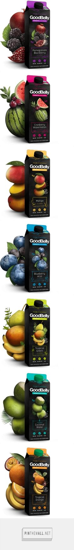 GoodBelly By The Glass probiotic fruit drink designed by LRXD. Pin curated by SFields99. #packaging #design