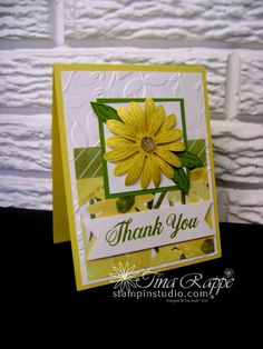Stampin' Up! Daisy Delight stamp set, Daisy Punch, Delightful Daisy Designer Series Paper, Stampin' Studio