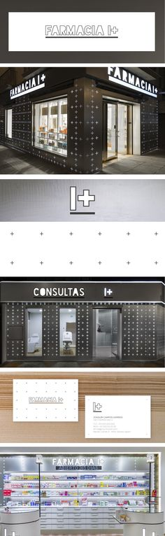 Diseño imagen corporativa de la primera cadena de farmacias en España, Farmacia I+ por Marketing-Jazz. #logodesign