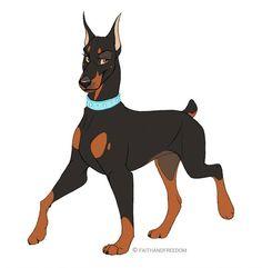 Cute Animal Drawings, Animal Sketches, Cartoon Drawings, Cute Drawings, Dog Drawings, Anime Wolf, Furry Art, Dog Design, Dog Art