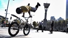 Bike Parkour -Streets of San Francisco! These bike trick guys can always catch my attention and I am 60 yrs old. Lv it.