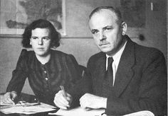 """Inge and Robert Scholl. Inge Scholl (1917-1998) was the elder sister to Hans and Sophie Scholl.  Later after the war she wrote a book about the White Rose resistance group called """"Students Against Tyranny""""."""