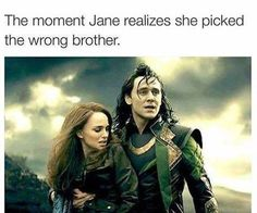 I think we all picked the wrong brother. Loki (No offense Thor.you're hot too, but seriously - Loki) The Avengers, Avengers Memes, Loki Thor, Tom Hiddleston Loki, Marvel Fan, Marvel Dc Comics, Marvel Avengers, Loki Laufeyson, Funny Marvel Memes