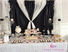 Black & White Dessert Buffet by www.KuteKreations.com