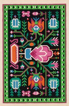 Moldavian pattern (from the Patterns of the Soviet Republics postcard set, 1970)