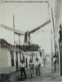 """Calle Puerto Viejo """"el antes"""" Puerto de la Cruz, Tenerife"""