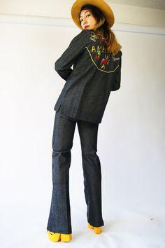 9c2421937bfb  hellhoundvintage  hhvdenimdaze vintage 70s denim overalls jumpsuit romper  playsuit levi s hellhound vintage hellhoundvintage jeans bibovera…