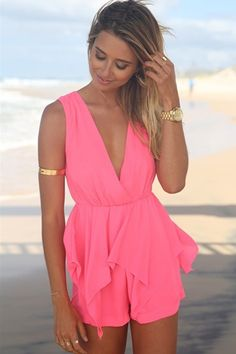 Solid Color Splicing Tie-Up Sleeveless Romper