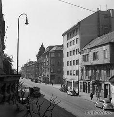 Štefánikova 1947 Bratislava, Old Street, Old Photos, Nostalgia, Street View, Geo, Squares, Times, Pictures