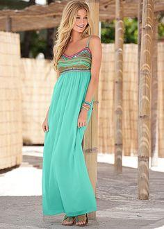 Beaded maxi dress in the VENUS Line of Dresses for Women  Venus.com $59