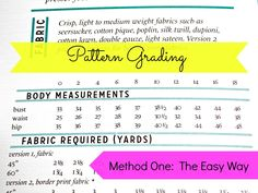 For those who dont have a ton of time on their hands but need to use some serious pattern grading quickly, this tutorial is for you. Easy Pattern Grading is a great way to get the size you need in a short amount of time. Sewing Basics, Sewing For Beginners, Sewing Hacks, Sewing Tutorials, Sewing Projects, Sewing Tips, Sewing Ideas, Vintage Patterns, Sewing Patterns