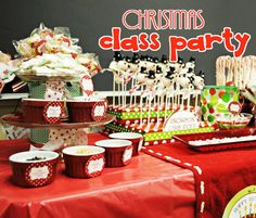 Customer's Classroom Christmas Party- Amanda's Parties To Go