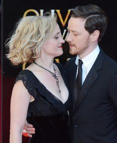 James McAvoy with sister Joy and wife Anne Marie Duff 2014 ...
