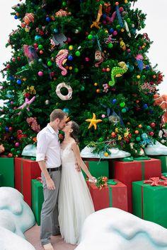 Christmas Wedding on Castaway Cay! Disney Cruise Wedding. Jessica Lea Photography
