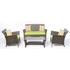 Found it at Wayfair - 4 Piece Deep Seating Group with Cushion