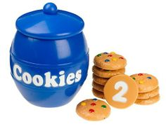 "Smart Snacks Counting Cookies by Learning Resources. $14.71. Recommended age range from 2 to 5 years. Encourages kids to explore early math skills in treat-themed imaginative play. Features 10 cookies with numbers 1-10 on the bottom and the corresponding number of candy-pieces on the top. Includes sturdy plastic jar with lid for easy clean-up and storage. Soft plastic cookies measure 2"" each. From the Manufacturer                Learning to count and recognize numbers is a ..."