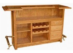 Bar for the house... maybe easy to make? Could be a fun summer project! #HomeBarDecor