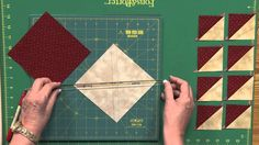 Great way to make triangle squares!! got to try this!  Fons & Porter staff show you how to make 8-at-a-time triangle squares. For more Fons & Porter Sew Easy video tutorials, visit ...
