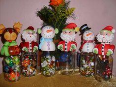 Clay Ornaments, Holiday Ornaments, Holiday Crafts, Christmas Bulbs, Christmas Decorations, Xmas, Clay Jar, Polymer Clay Christmas, Pasta Flexible