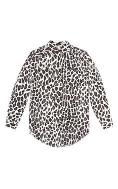 Leopard Stamped Silk Blouse by MSGM - Moda Operandi