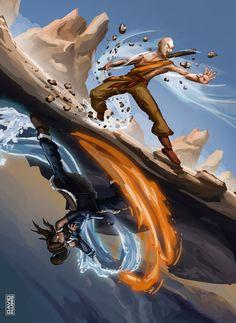 Korra and Aang | The Last Airbender | The Legend of Korra | Avatar