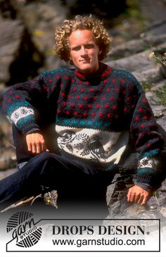 """DROPS 20-6 - DROPS jumper with dove pattern in """"Alaska"""". Ladies and men's sizes S – L. - Free pattern by DROPS Design"""