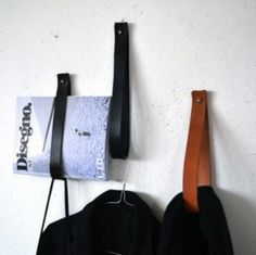 DIY Leather Straps for Hooks