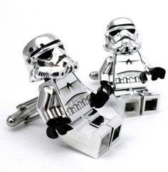Star Wars storm trooper Lego mini figures Cuff LInks! Just. Too. Awesome!