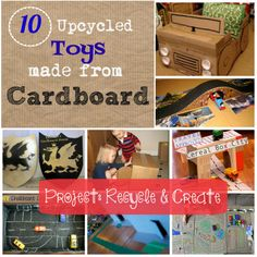 10 Upcycled Toys made from Cardboard | Project: Recycle & Create