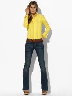 Ralph Lauren canary sings denim.