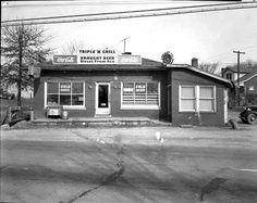 """Triple """"N"""" Grill, Hudson Lane, Fern Creek, Louisville Kentucky 1950's"""