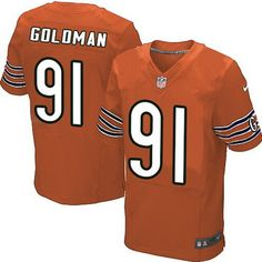 Chicago Bears #91 Eddie Goldman Orange Alternate NFL Nike Elite Jersey