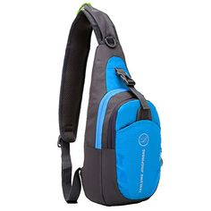 Peicees Waterproof Lightweight Sling Durable Casual Travel One Shoulder  Backpack Chest Bag for Men and Women,Teen Boys and Girls School (Rose Red) 926ae760ca