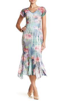 V-Neck Flutter Sleeve Dress  by KOMAROV on @nordstrom_rack