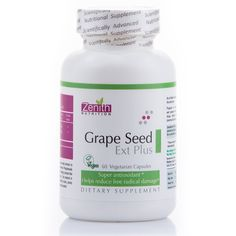 Dietary Supplement ZENITH Nutrition's Grape Seed Extract Plus provides a rich source of natural antioxidants and contains grape seed extract in combination with bilberry extract complement this full-spectrum blend of bioflavonoids. Antioxidants help strengthen blood vessels and support the function of the eyes and immune system.