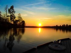 #Sunset over lake #Bunn at our #cottage in #Sweden - #Sonnenuntergang an unserem…