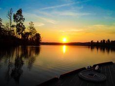 #Sunset over lake #Bunn at our #cottage in #Sweden - #Sonnenuntergang an unserem #Ferienhaus am #See #Bunn in #Schweden