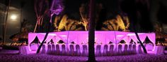 Wild purple lighting for their beach wedding! This would go great with music, dancing and for the after party.