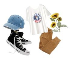 """Go Find Wally"" by megesu on Polyvore featuring Current/Elliott, Converse, WithChic, Mudd and Pier 1 Imports"