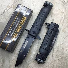 Tac-Force spring Assisted Open Black Bayonet Style Tactical Rescue Pocket Knife *** Read more  at the image link.