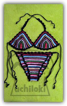 By Uchiloki Producción propia: Stripped Crocheted Bikini