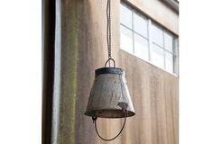 Antique Farmhouse Old Bucket Pendant Light Antique Farm House