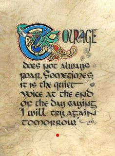 Celtic Card Company presents the illustrated manuscripts of artist Kevin Dillon Illuminated Letters, Illuminated Manuscript, Cool Words, Wise Words, Lynda Barry, Irish Proverbs, Irish Quotes, Irish Sayings, Book Of Kells