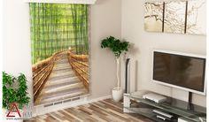 Bambular ve Merdiven - Baskılı Zebra Perde
