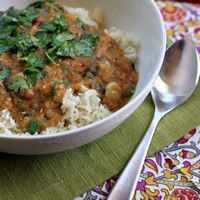 Indian-Spiced Slow Cooker Lentils - added spinach and tomatoes.